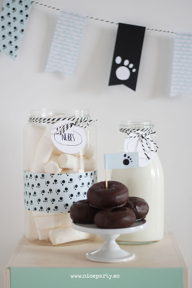 Nice Party fiesta oso panda mesa de dulces pack de fiesta para imprimir