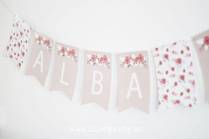 Nice Party guirnalda de flores para comunión o boda (2)