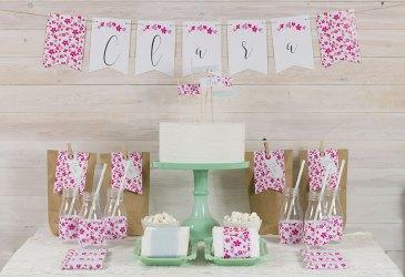 Mini mesa dulce de comunión