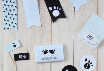 Fiesta oso panda mint y negro