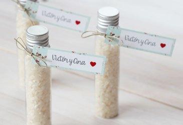 Tubos de arroz para bodas handmade