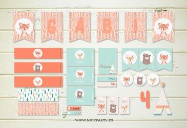 Nuevo kit de fiesta imprimible Indios