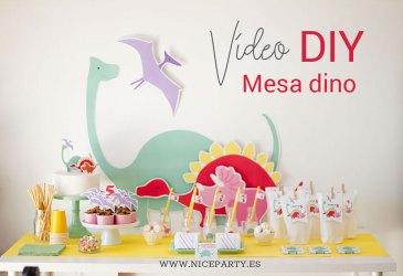 Vídeo DIY cómo montar una mesa dulce de dinos
