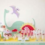Una fiesta de dinos llena de color