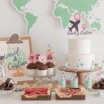 Candy bar temática viajes para bodas