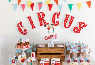 Circus Party o cómo decorar una fiesta con imprimibles