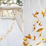 Cosas bonitas: Decorando con grullas de papel