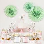 La mesa dulce de la elefanta rosa