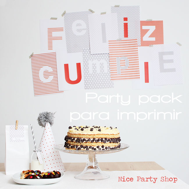 Nice Party: Pack de fiesta para imprimir