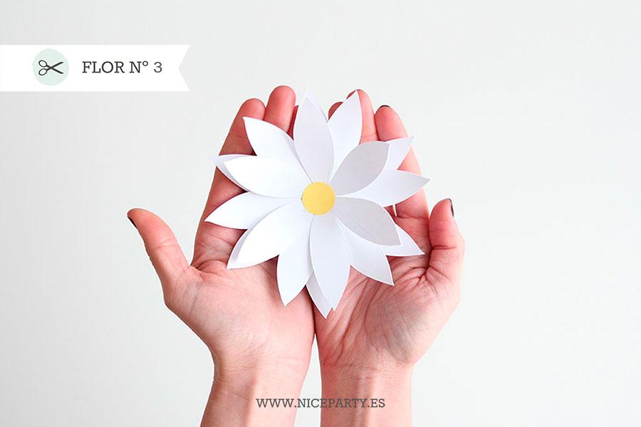 Nice Party plantilla para flores de papel gigantes