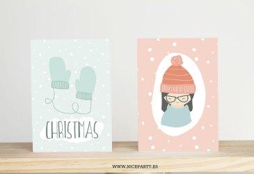 Tarjetas navideñas para felicitar las fiestas