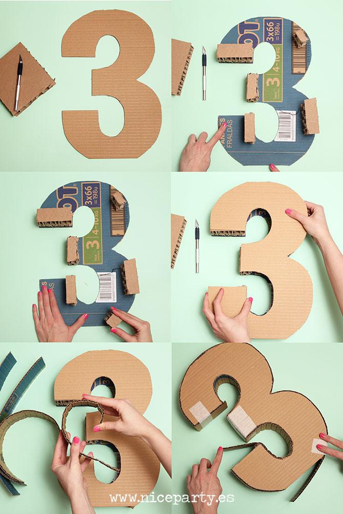 C mo hacer una pi ata paso a paso niceparty for Formas de letras para cumpleanos