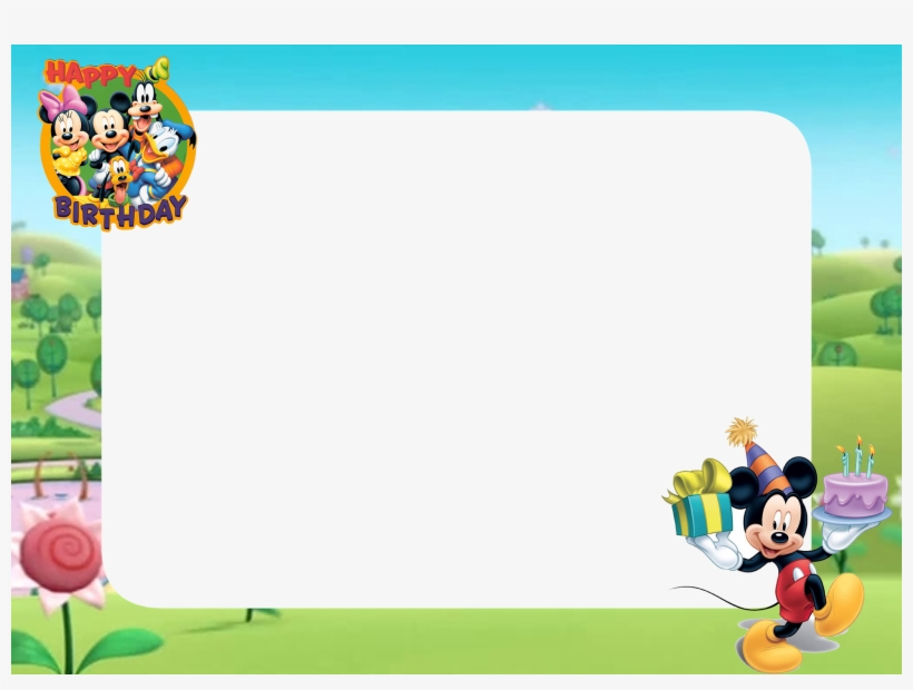 Download Free Printable Mickey Mouse Happy Birthday Png Cartoon Birthday Frame Transparent Png 1600x1132 Free Download On Nicepng