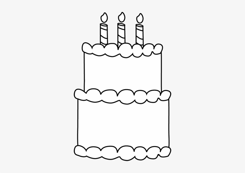 Black And White Birthday Cake Birthday Black And White Clipart Transparent Png 326x500 Free Download On Nicepng