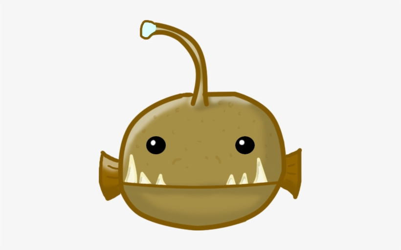 Beautiful Anglerfish Clipart Cute With Angler Fish Cartoon Angler Fish Drawing Easy Transparent Png 427x431 Free Download On Nicepng