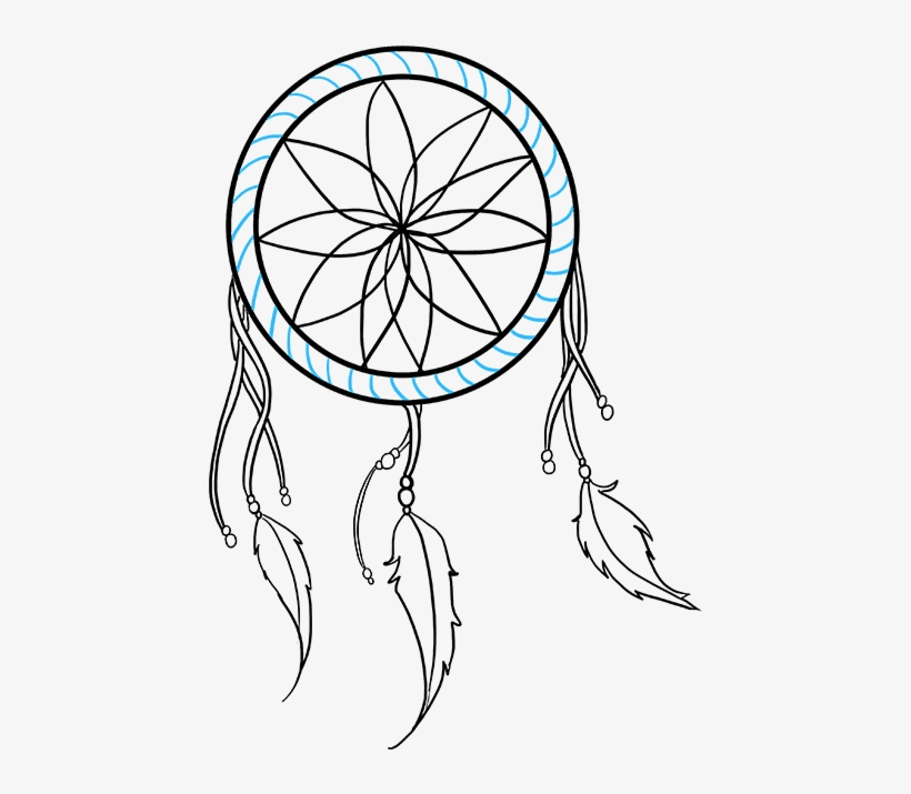 How To Draw A Dream Catcher Really Easy Drawing Tutorial Simple Dream Catcher Drawing Transparent Png 680x678 Free Download On Nicepng