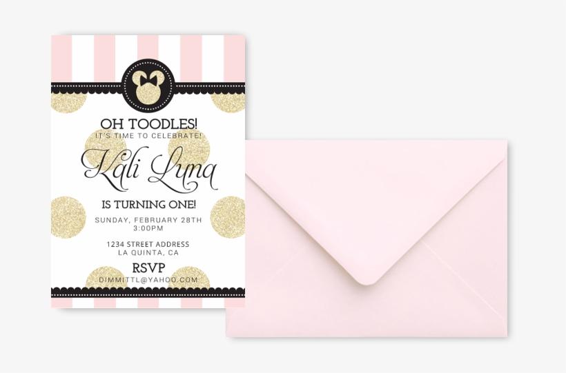 minnie mouse baby birthday invitations