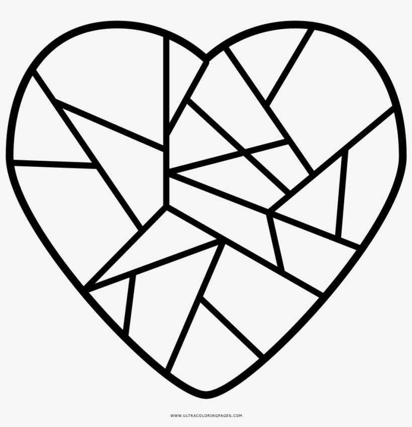Broken Heart Coloring Page Ultra Coloring Pages Dibujo Corazon Partido Transparent Png 1000x1000 Free Download On Nicepng