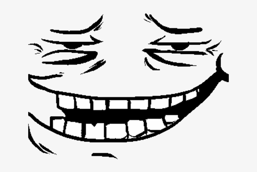 Trollface Clipart Meme Omega Flowey Face Transparent Png