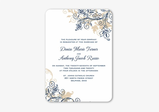 Flourish Golden Wedding Invitations