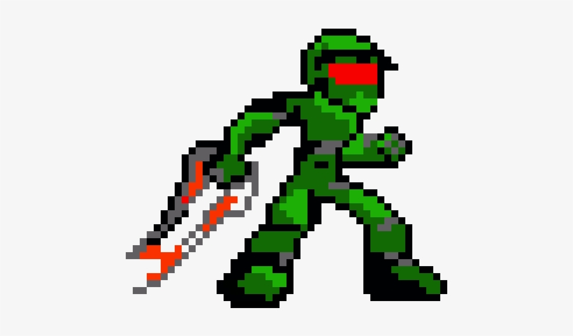 Master Chief Minecraft Pixel Art Dessin Transparent Png 580x510 Free Download On Nicepng