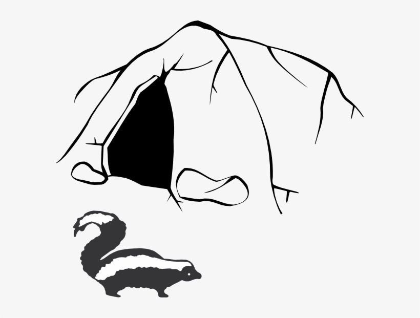 Skunk Clip Art Easy Drawings Of Caves Transparent Png 600x541 Free Download On Nicepng