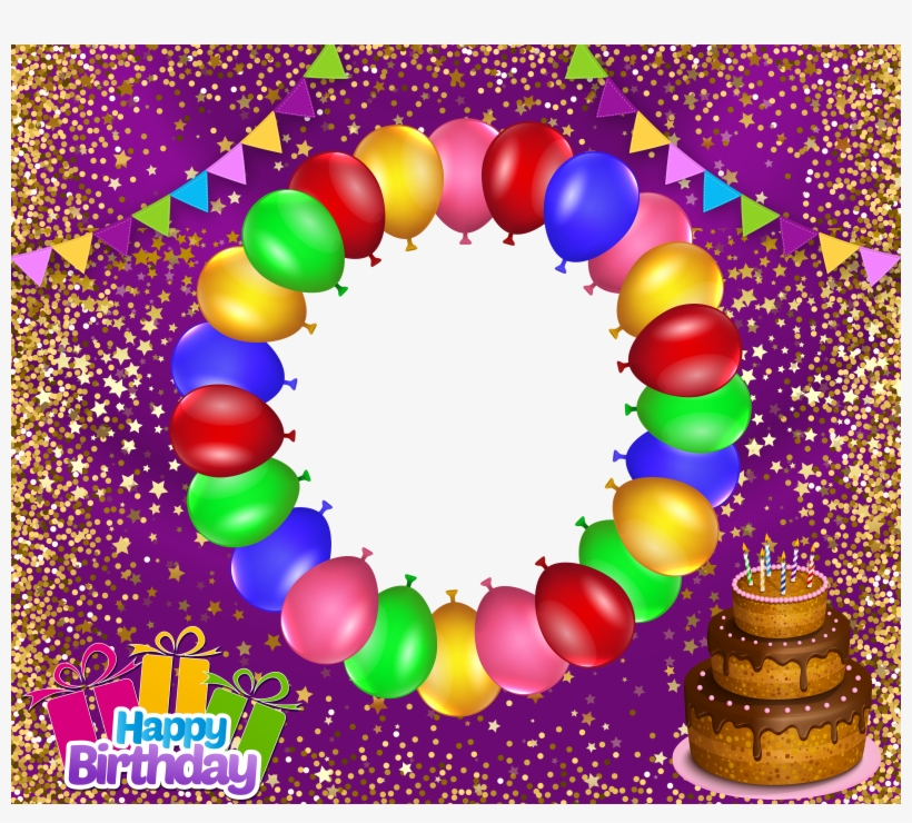 Transparent Happy Birthday Frame Transparent Png 5039x4306 Free Download On Nicepng