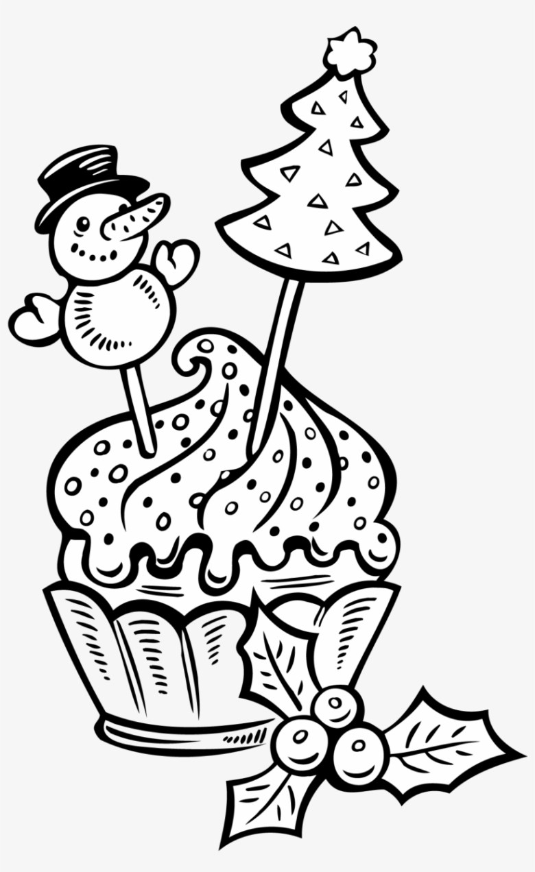 christmas cake coloring page with printable cup pages - boże