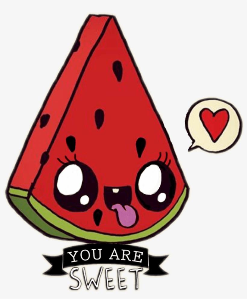 Ftewatermelon Sandia Kawaii Sandiakawaii Watermelon Kawaii Nourriture Dessin Facile Transparent Png 843x981 Free Download On Nicepng