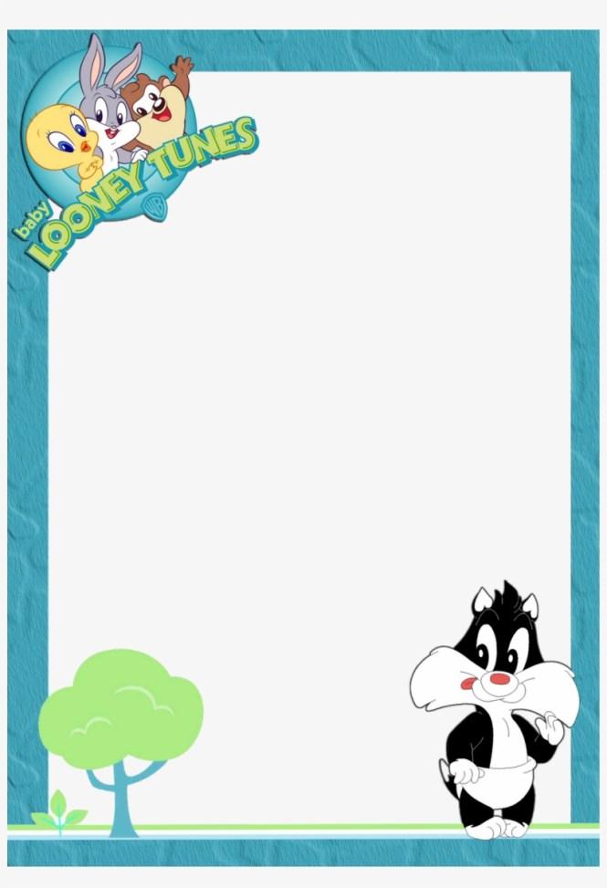 Baby Looney Tunes Blank Invitations