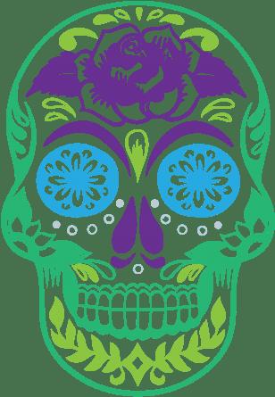 Download Hd Dissecting Dia De Los Muertos Happy Birthday With Sugar Skulls Transparent Png Image Nicepng Com