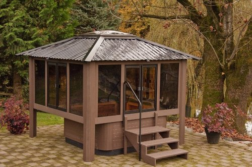 Outdoor Hot Tub Enclosure Wwwnicespaceme