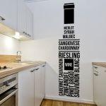 Vinflaske Med Vin Typer Wallsticker Billig Wall Sticker Kob Den Her