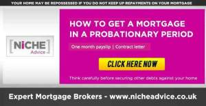Mortgage in a probationary period new job