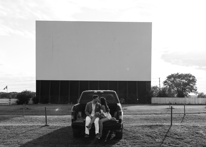 Kingston couple at Drive-in