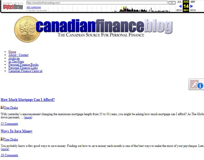 revive old content canadian finance blog