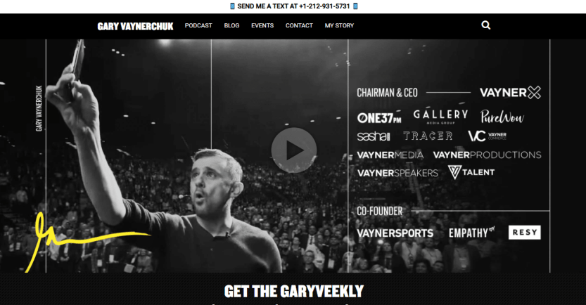 Gary Vaynerchuk person web page