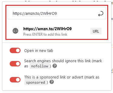 how to add affiliate links to wordpress