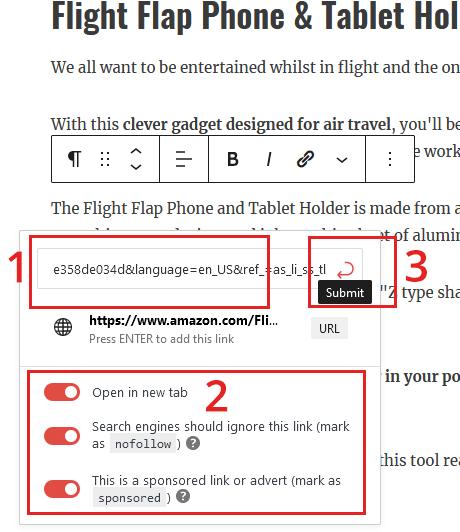 cloak affiliate link without website