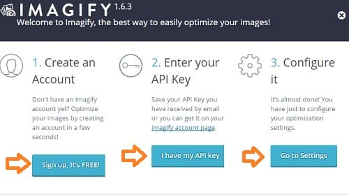 Imagify Activation