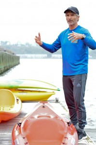 Eric Stiller teaches Kayaking 101 at the Manhattan Kayak Company.  Photo: Bacilio Bencosme