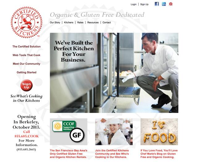 Certified Kitchens website design