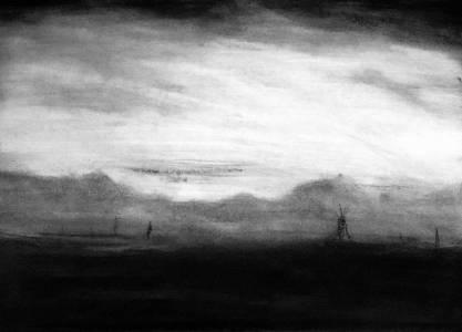 Landscape, Charcoal, Nichola Scrutton