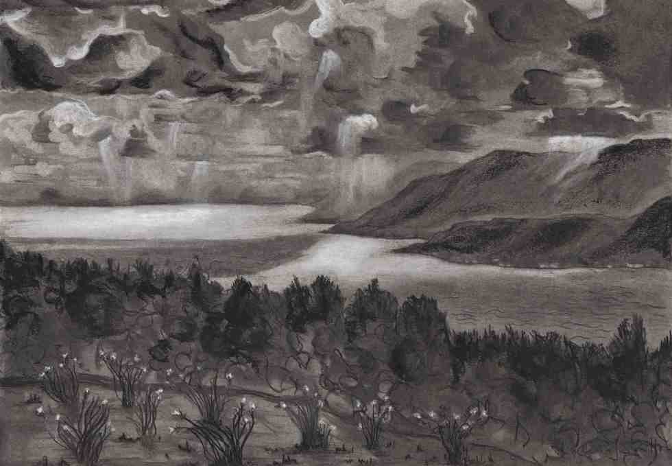 Limited edition print - landscape, Night Falls at Cove
