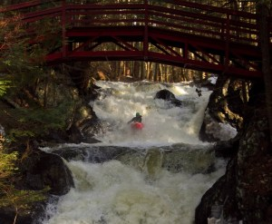 Me in the Trout Brook double drop, Lyme, NH.