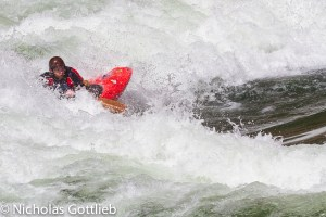 The first couple days had some incredible play waves, although I only got the camera out at one of them. Here's James Deusenberry in my boat on one of them -- I think it was mile 24.5 rapid.