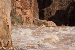 Our last-second armada of rafts coming into Granite.