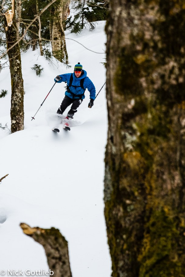 March was awesome. I even found ski buddies who aren't Jackie! (Skier: Justin Beckwith)
