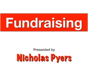 Junee Volunteer Summit 2018 - Fundraising presentation by Nicholas Pyers