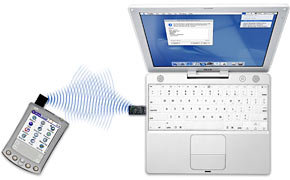 Bluetooth equipped iBook and PDA